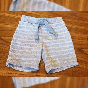 Old Navy Grey White Stripe 18-24 Months Shorts